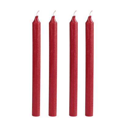 Зображення Свічка COULEURS Червоний O:2.5 см. H:30 см. 10216530