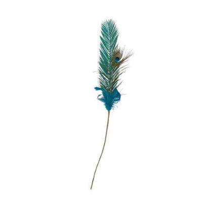 Зображення Виріб декоративний PEACOCK Зелений L:70 см. 10216654