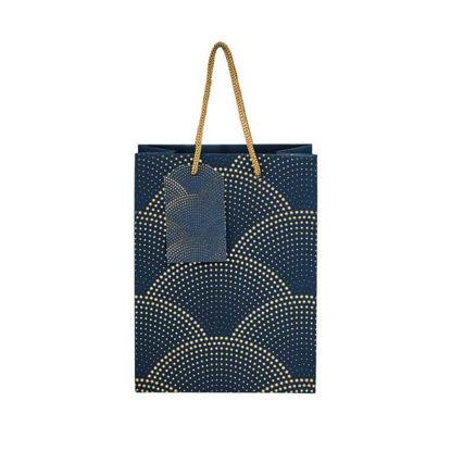 Зображення Пакет подарунковий X-MAS Синій 17x22.5 см. H:9.2 см. L:17 см. 10216758