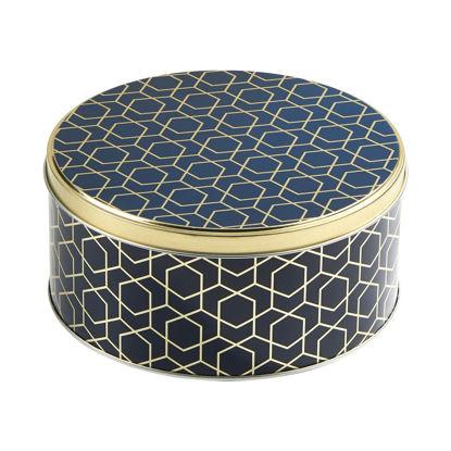 Изображение Коробка для хранения COOKIE JAR Золотой в сочетании O:16.7 см. 10216840