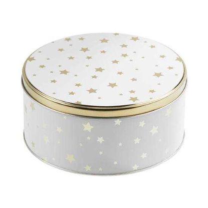 Изображение Коробка для хранения COOKIE JAR Золотой в сочетании O:16.7 см. 10216851