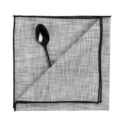 Зображення Підставка під тарілки TOKYO Чорний в поєднанні 45х45 см. 10216891
