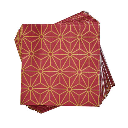 Зображення Серветки неароматизовані APRES Червоний в поєднанні 33х33 см. 10216900