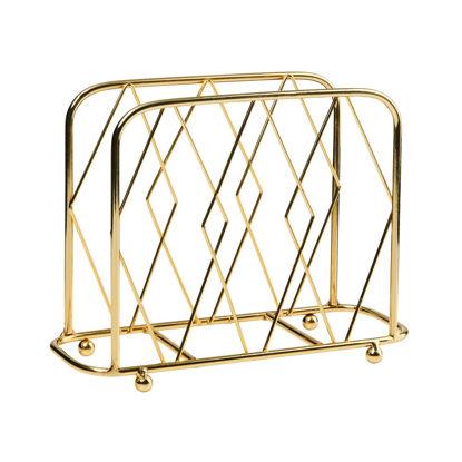 Зображення Підставка металева для серветок HOLD ME TIGHT Золотий 20х4.5х15 см. 10216940