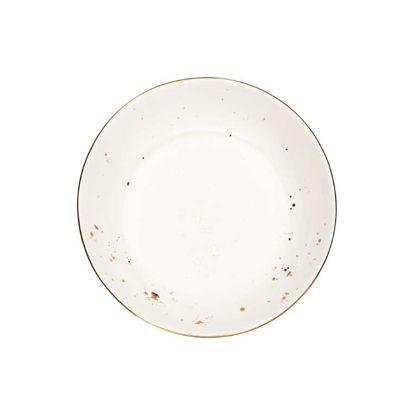 Изображение Тарелка GOLDEN GLAZE Белый в сочетании O:21.5 см. 10216971