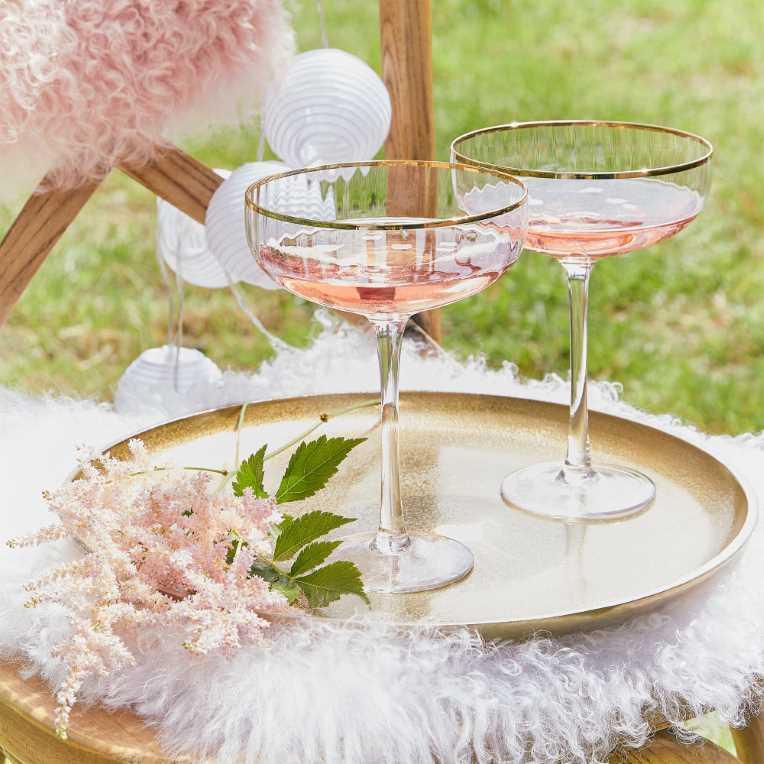 Зображення Келих для шампанського GOLDEN TWENTIES Прозорий в поєднанні V:400 мл. 10216984