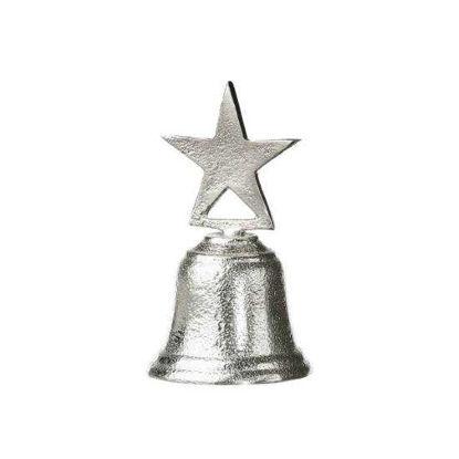 Изображение Звонок рождественский X-MAS Серебряный 10 см. 10217022