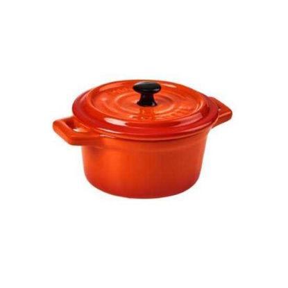 Изображение Горшочек для запекания C`EST SI BON Оранжевый 14х9х6.5 см. 10217135