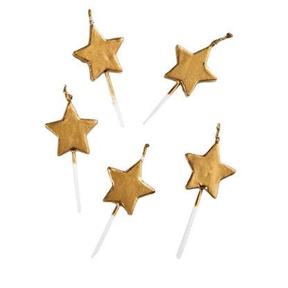 Зображення Свічка LUCKY STARS Золотий H:13 см. 10217463
