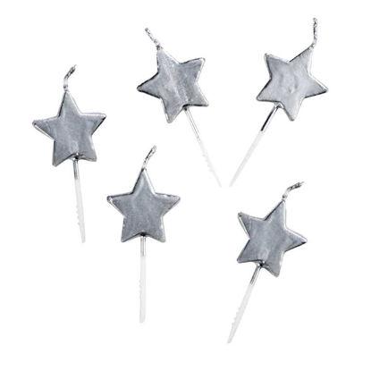 Зображення Свічка LUCKY STARS Срібний H:13 см. 10217464