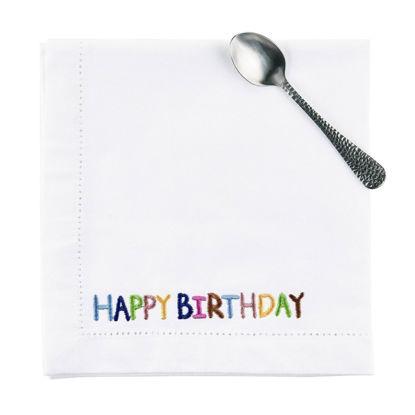 Зображення Серветка HAPPY BIRTHDAY Білий 45х45 см. H:45 см. L:45 см. 10217664