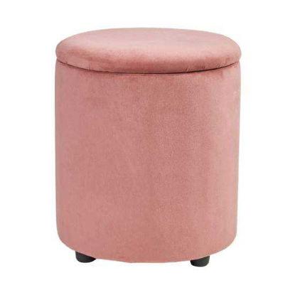 Изображение Кресло VELVET MOMENTS Розовый в сочетании O:40 см. H:45 см. 10217767