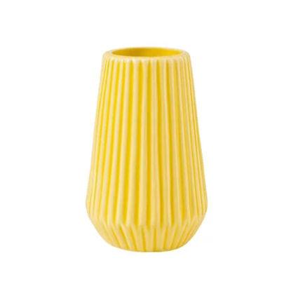 Изображение Ваза для цветов RIFFLE Желтый O:8.5 см. H:13.5 см. 10217870