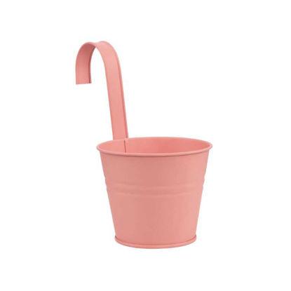 Изображение Ведерко подвесное ZINC Розовый O:13 см. H:11 см. 10217971