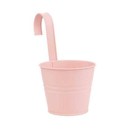 Изображение Ведерко подвесное ZINC Розовый O:16 см. H:14.5 см. 10217975