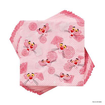 Изображение Салфетки неароматизированные PINK PANTHER Розовый 33х33 см. 10218021