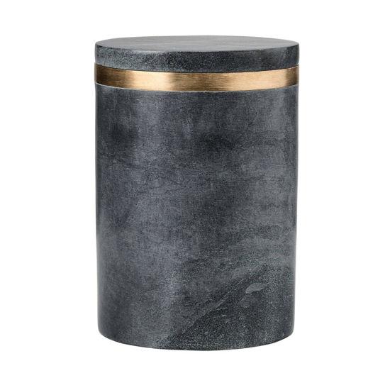 Зображення Ємність для зберігання дрібниць NORDIC Чорний H:16 см. 10218035