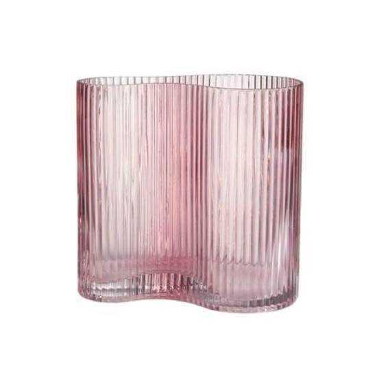 Изображение Ваза AVERY Розовый H:18 см. 10218085