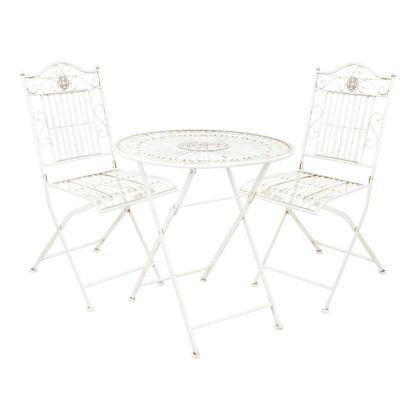 Изображение Набор садовой мебели (2 стула) TERRACE HILL Белый O:70 см. H:91 см. 10218198