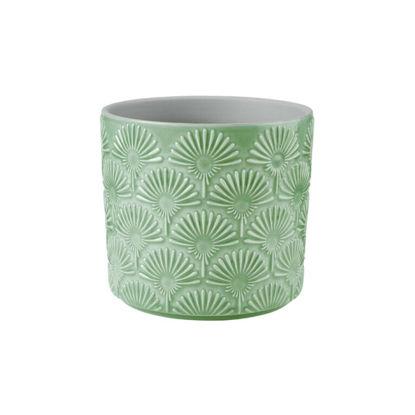Изображение Горшок для цветов BLOOMY Зеленый H:12.5 см. 10218247