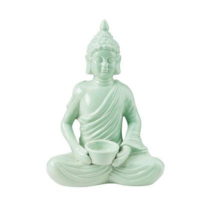 Изображение Фигура будды BUDDHA Зеленый 20.5х13х28.5 см. 10218342