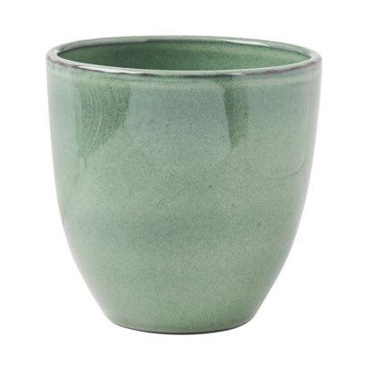 Зображення Горщик для квітів GLAZE Зелений O:19.5 см. H:18.5 см. 10218438