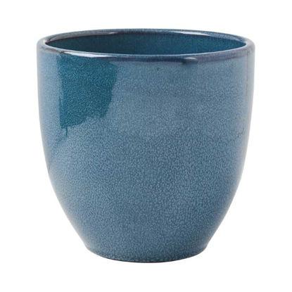 Зображення Горщик для квітів GLAZE Синій O:19.5 см. H:18.5 см. 10218440