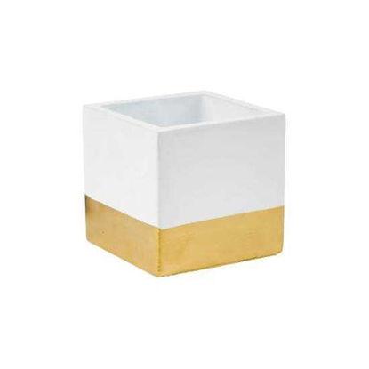 Зображення Горщик для квітів GOLDEN TOUCH Білий в поєднанні H:10 см. 10218633