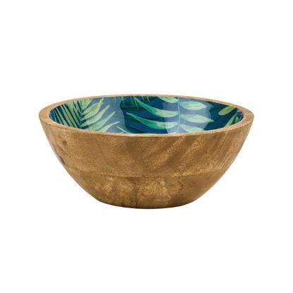 Изображение Миска джунгли декоративная TROPICAL Зеленый в сочетании O:18 см. 10219012