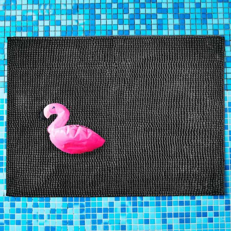Зображення Килимок для ванної кімнати POPEYE Чорний 80х60 см. 10219316