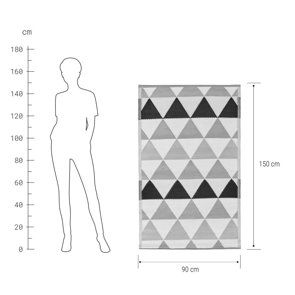 Зображення Килим для підлоги COLOUR CLASH Чорний в поєднанні 90x150 см. 10219369
