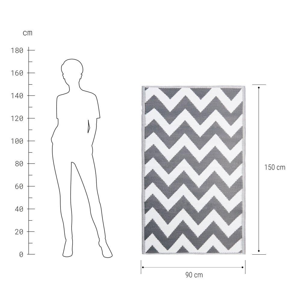 Зображення Килим для підлоги COLOUR CLASH Сірий 90x150 см. 10219370
