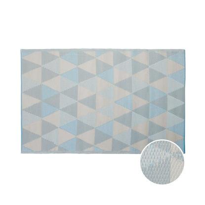 Изображение Ковер для пола COLOUR CLASH Голубой в сочетании 120х180 см. 10219372