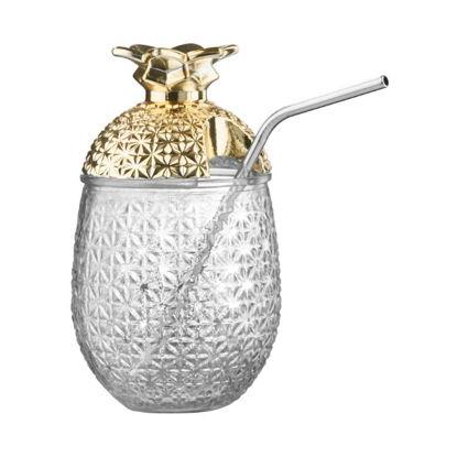 Зображення Склянка з кришкою COCKTAIL DELUXE Прозорий в поєднанні V:500 мл. 10219641