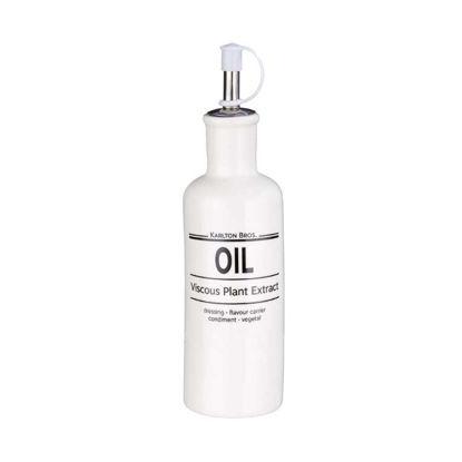 Зображення Ємність для олії KARLTON BROS. Білий O:5 см. H:20.5 см. V:240 мл. 10219760