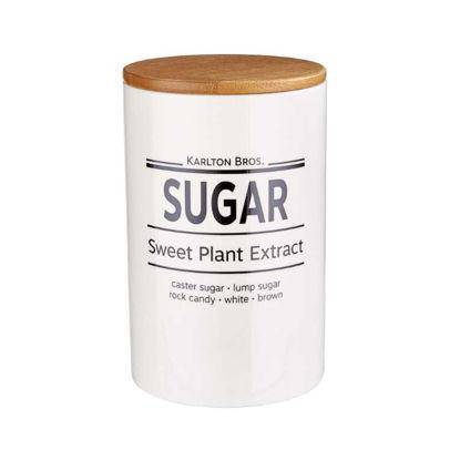 Зображення Ємність для цукру KARLTON BROS. Білий O:11.1 см. H:17.6 см. V:1100 мл. 10219766