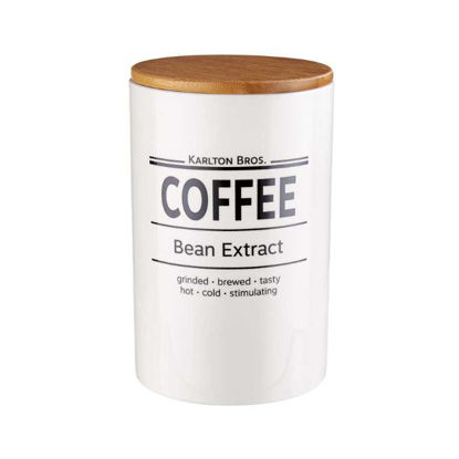 Зображення Ємність для зберігання кави KARLTON BROS. Білий O:11.1 см. H:17.6 см. V:1100 мл. 10219767