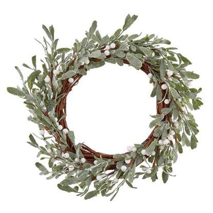 Изображение Венок декоративный FLORISTA Зеленый O:30 см. H:6 см. 10219934
