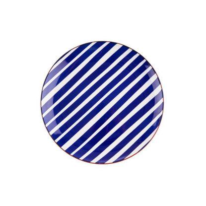 Изображение Тарелка PORTO Синий O:21.5 см. H:2.5 см. 10220058