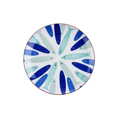 Изображение Тарелка PORTO Синий O:21.5 см. H:2.5 см. 10220059