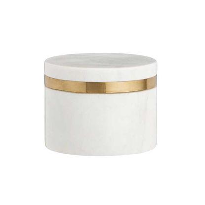 Изображение Емкость с крышкой для хранения MARBLE Белый O:10 см. H:8 см. 10220134