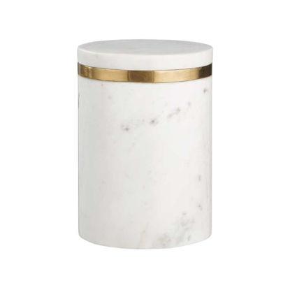 Зображення Ємність для зберігання продуктів MARBLE Білий O:11.5 см. H:16 см. V:850 мл. 10220135