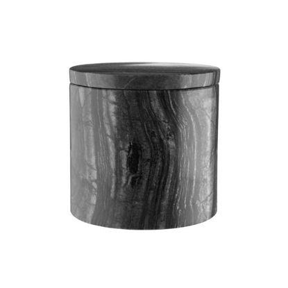 Зображення Ємність з кришкою для зберігання MARBLE Чорний O:9.6 см. H:9.5 см. 10220177