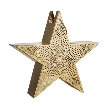 Изображение Подсвечник в виде звезды LUMINOUS Золотой 35x9 см. H:33 см. L:35 см. 10220306