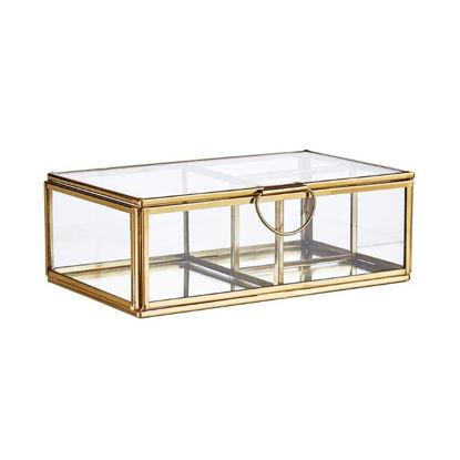 Изображение Шкатулка для хранения мелочей SHOWROOM Золотой 17.5x10.5 см. H:6 см. L:17.5 см. 10220570