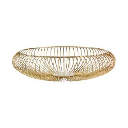 Зображення Тарілка декоративна VAGANZA Золотий O:36 см. H:9 см. 10220661