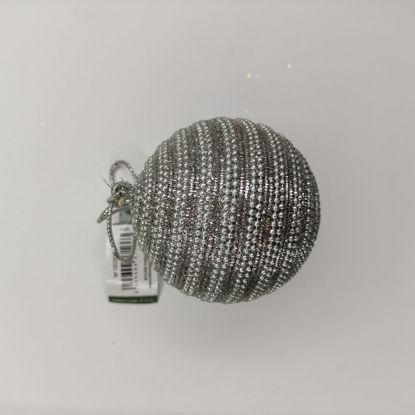 Зображення Кулька ялинкова HANG ON Срібний O:8 см. 10220700