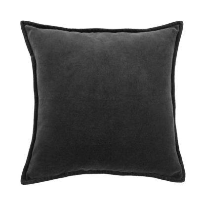 Зображення Подушка COTTON VELVET Чорний 45x45 см. H:5 см. L:45 см. 10220844