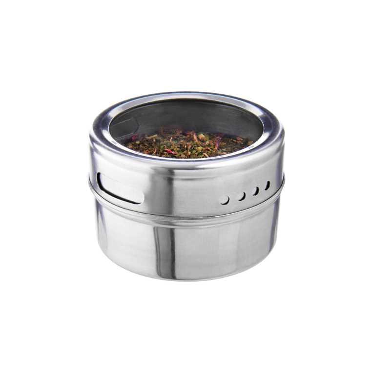 Зображення Ємкості для спецій SPICE GUYS Срібний 21x7 см. O:6.5 см. H:4.2 см. L:21 см. 10220939