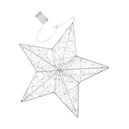 Зображення Зірка світлодіодна SHINING STAR Срібний O:48 см. H:8 см. 10220972